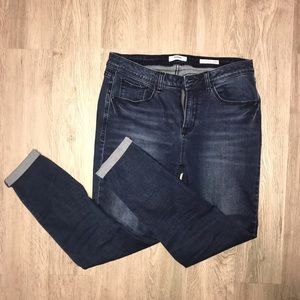Effortless Ankle Mid Rise Blue Jeans